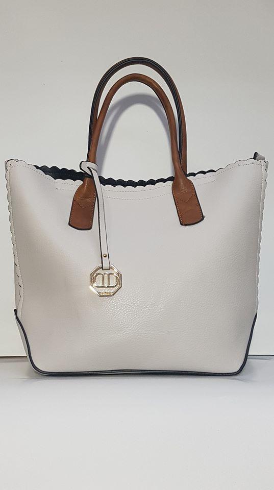 Τσάντα ώμου άσπρη – LeDi  a69b8e20ea6