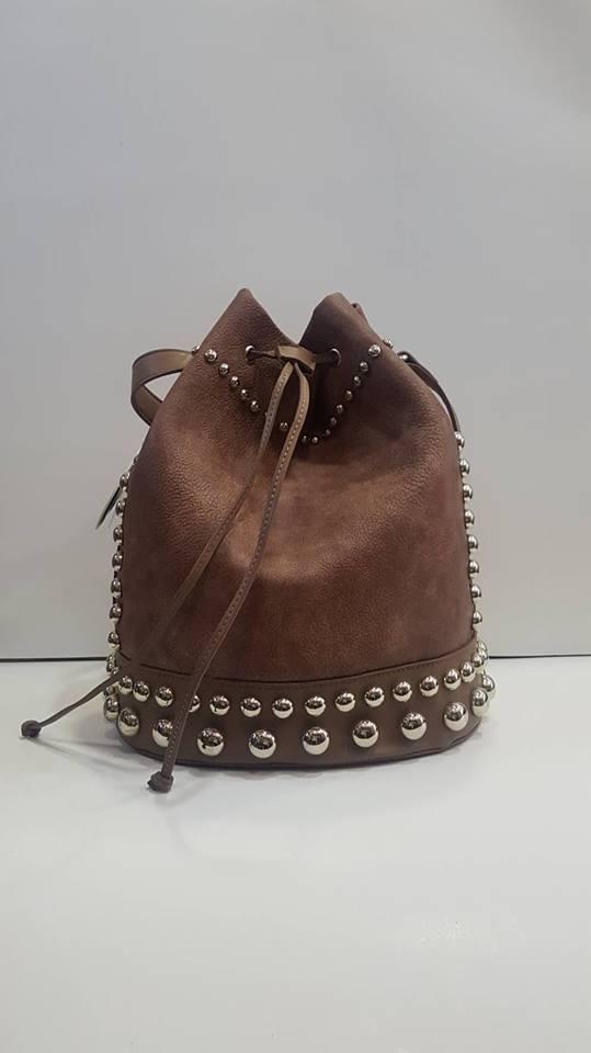 Τσάντα ώμου πουγκί ρόζ καφέ – LeDi  b038c1ae6cb